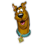 Happy Scooby-Doo Premium 3D Logo Fan Emblem