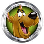 Scooby-Doo Happy Scooby Premium 3D Chrome Fan Emblem