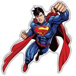 Fan Emblems Superman Domed Transparent Car Decal - Flying Character