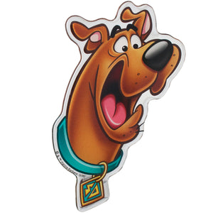 Scared Scooby-Doo Domed Logo Car Decal