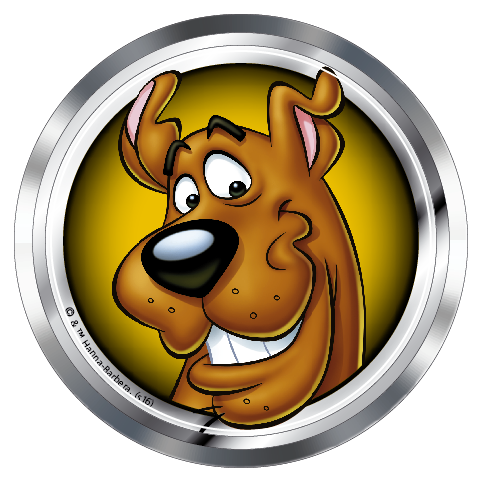 Scooby-Doo Smiling Scooby Premium 3D Chrome Fan Emblem