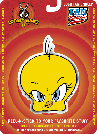 Looney Tunes Tweety Logo Fan Emblem