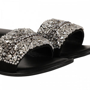 CRYSTAL SLIDER - BLACK