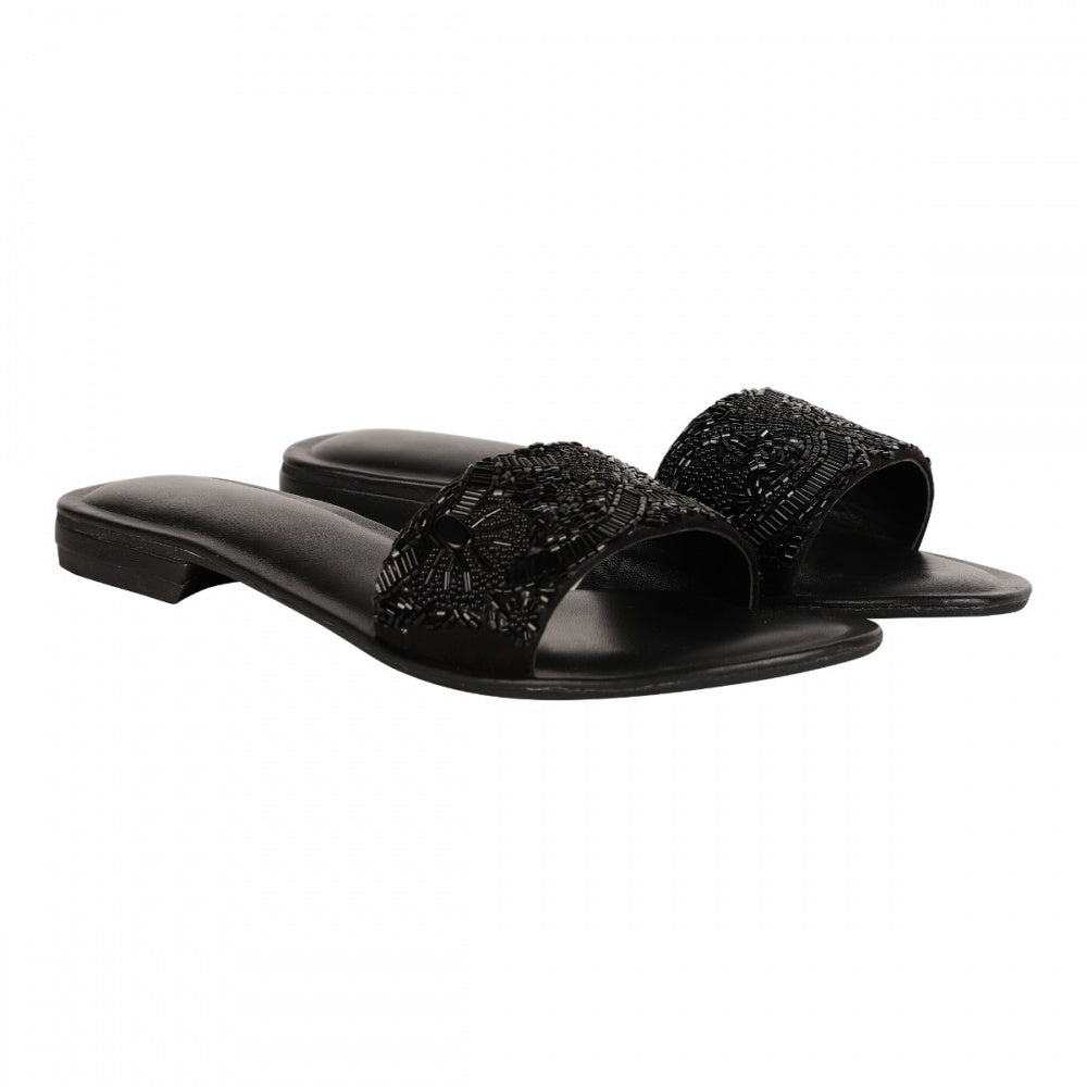 CUT-DANA & STONE SLIDER - BLACK