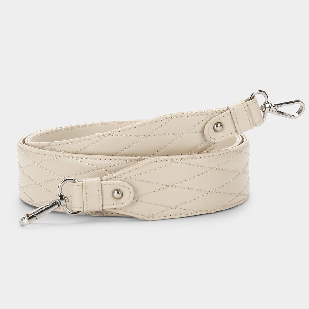 Faux Leather Bag Strap - Ivory