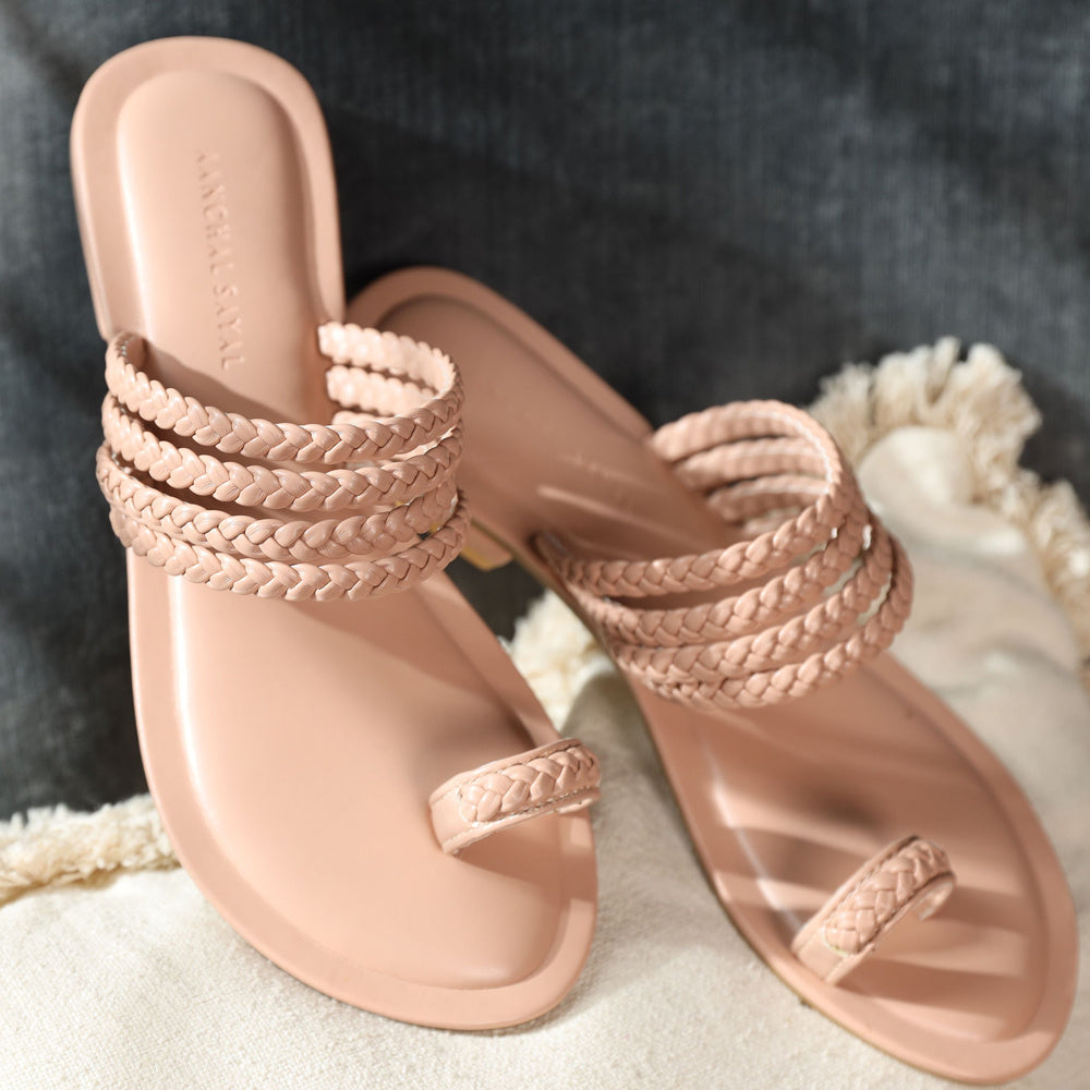 Meera Kohlapuri Sliders -Blush Pink