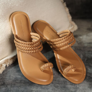 Meera Kohlapuri Sliders- Tan