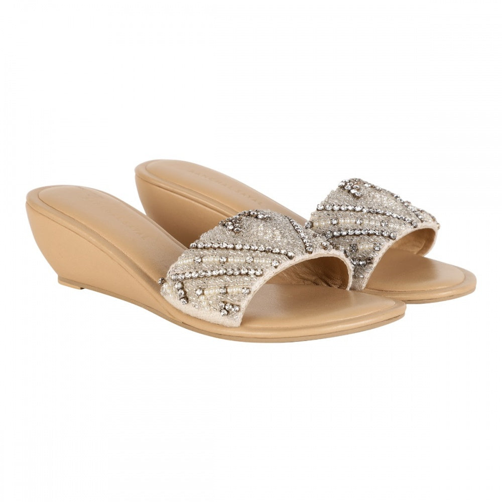 PEARL WEDGE HEEL - IVORY