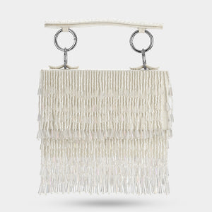 Veil Crystal Mini Bag - Ivory
