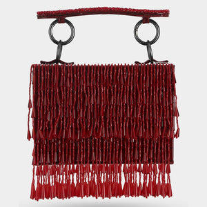 Veil Crystal Mini Bag - Red