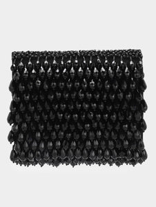 COCKTAIL CRYSTAL CLUTCH - BLACK