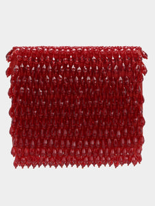 SCARLET CRYSTAL CLUTCH - RED