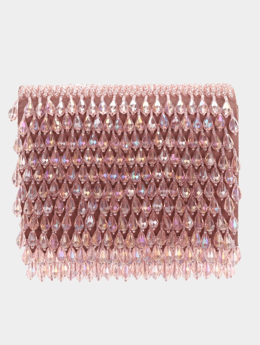 COCKTAIL CRYSTAL CLUTCH - BLUSH PINK