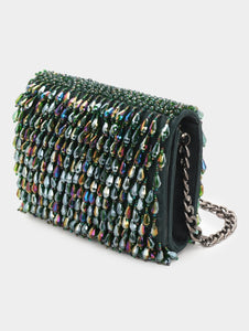COCKTAIL CRYSTAL CLUTCH - EMERALD GREEN