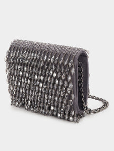 COCKTAIL CRYSTAL CLUTCH - GREY