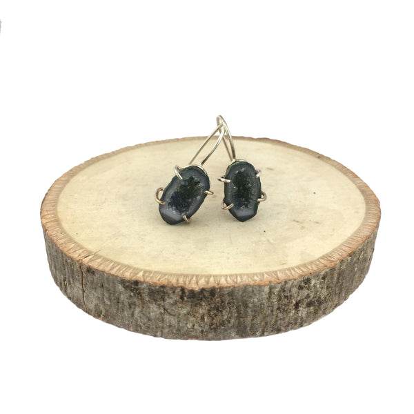 geode french hook earrings