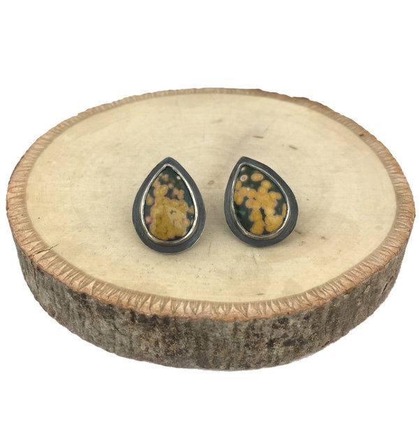 Ocean jasper stud earrings