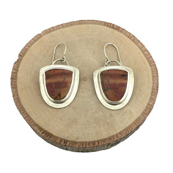 Red Creek Picture Jasper earrings