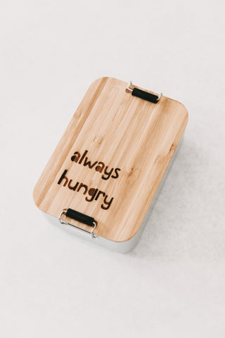 "Lunchbox/ Brotdose ""always hungry"""