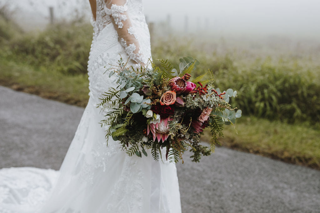 shop fit and flare wedding gown