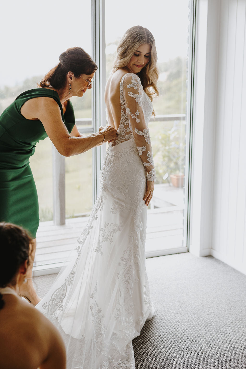 buy low back lace wedding gown