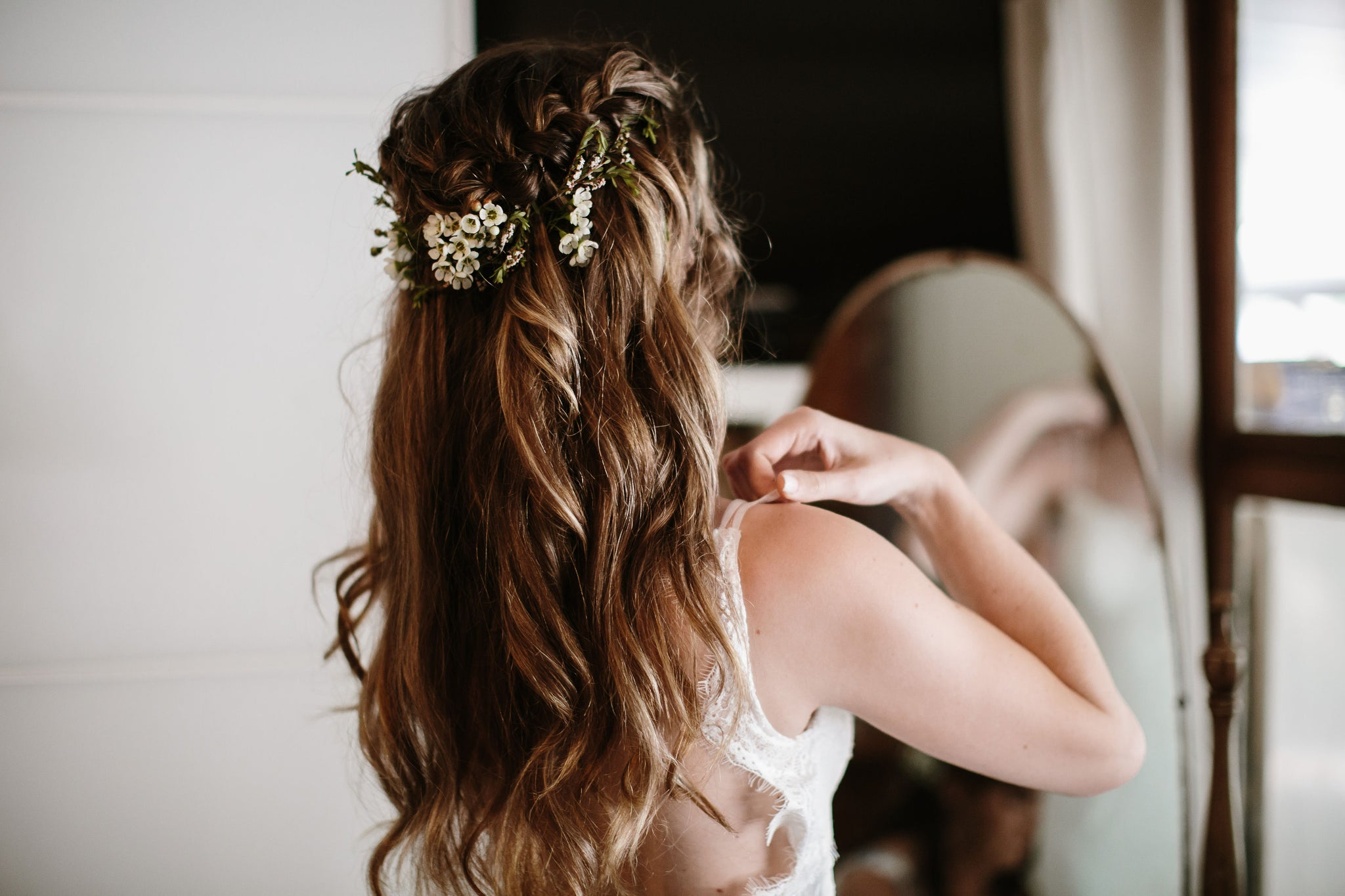 bridal hair loose curls