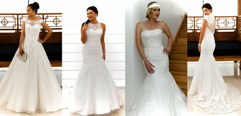 Affordable lace bridal gowns