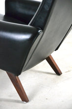 Load image into Gallery viewer, Danish 1960s Armchair - Leatherette & Rosewood, Illum Wikkelso for Soren Willadsen, Denmark, Edwin Fox Furniture Melbourne furniture sales and restoration service,