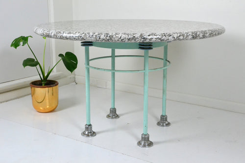 Post Modern Memphis style Marble table by Mark Watson Australia, Edwin Fox Furniture Melbourne furniture sales and restoration service,