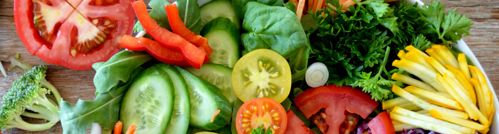 chopped fresh fruit and vegetables