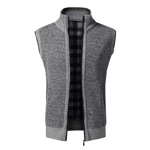 Autumn Winter Men's Wool Sweater Vest Thick Warm Casual Sleeveless Jackets Sweatercoat Cashmere Male Knitted Fleece Vest