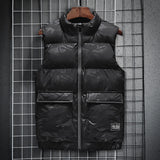 Ymwmhu 7XL 8XL New Mens Vest Jackets Sleeveless Men's Warm Vests Homme Casual Thicken Waistcoat Plus Size Chalecos Para Hombre