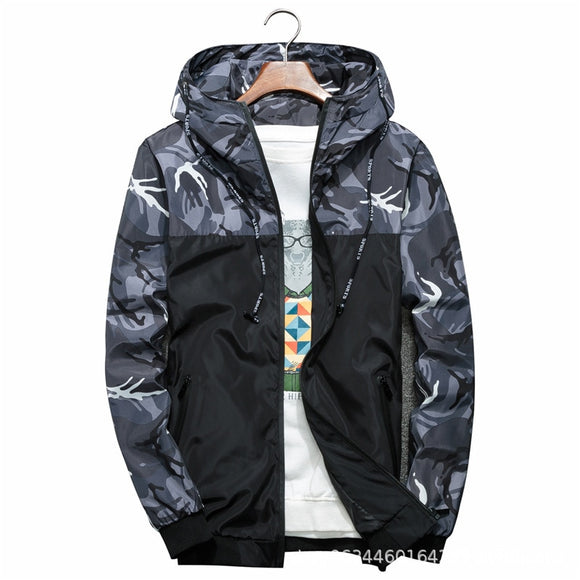 New Korean Foreign Trade Jacket Men's Trend Camouflage Jacket Casual Men's Spring and Autumn Clothes