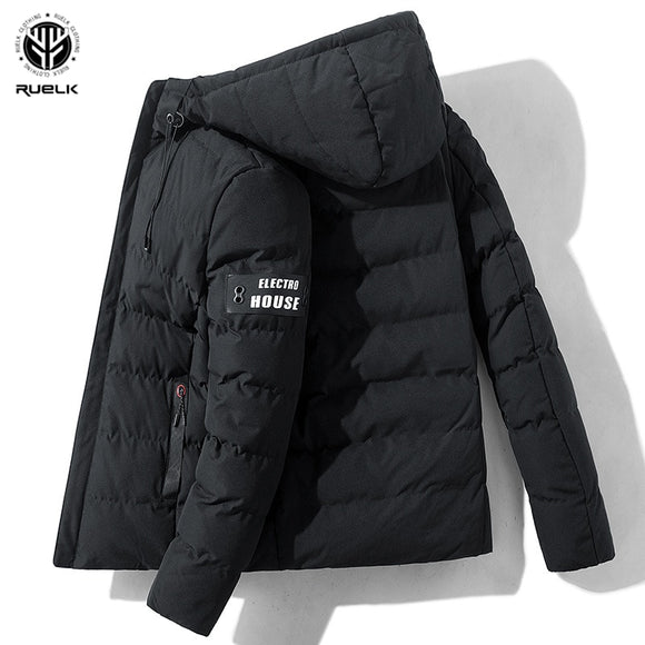 RUELK 2020 Autumn And Winter Cotton Men's Short Hooded Jacket Winter Thick Padded Jacket Korean Style Trendy Padded Jacket Top