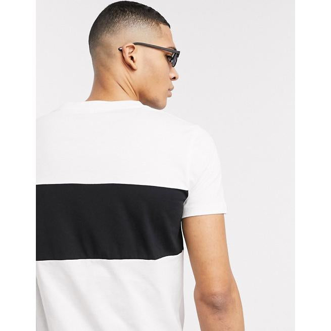 CHIC NYC MAN Black T-Shirt with White Band
