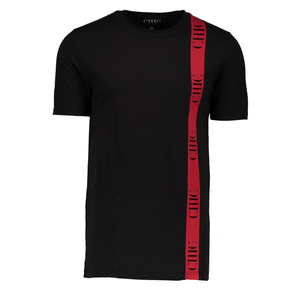 Colour Block T-Shirt with Red Stripe