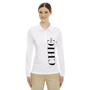 CHIC NYC White Long Sleeve Polo