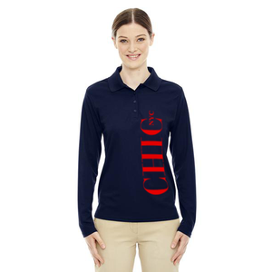 CHIC NYC Navy Blue Long Sleeve Polo