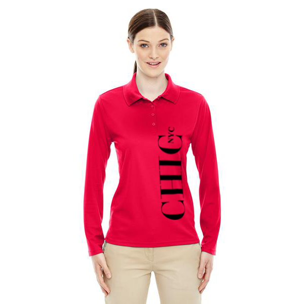 CHIC NYC Red Long Sleeve Polo