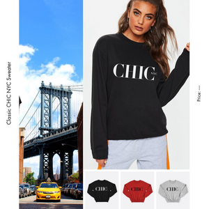 CHIC NYC Fleece Sweater - Choose your color