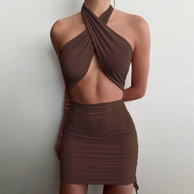 Halter Sexy Dress 2021 Summer