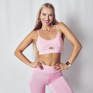 Bubble Gum Pink 2 Piece Athletic Set - Official Chic NYC Logo