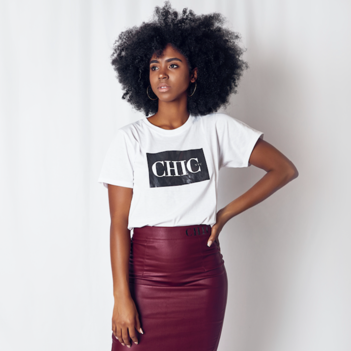 Chic NYC Logo Tee Shirt - WHITE