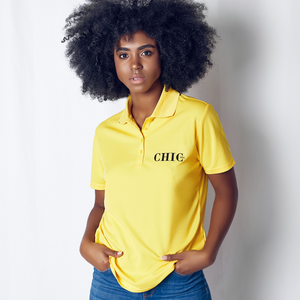 CHIC NYC Yellow Performance Polo