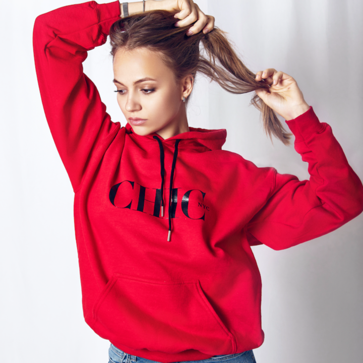 Red Hoodie Sweater