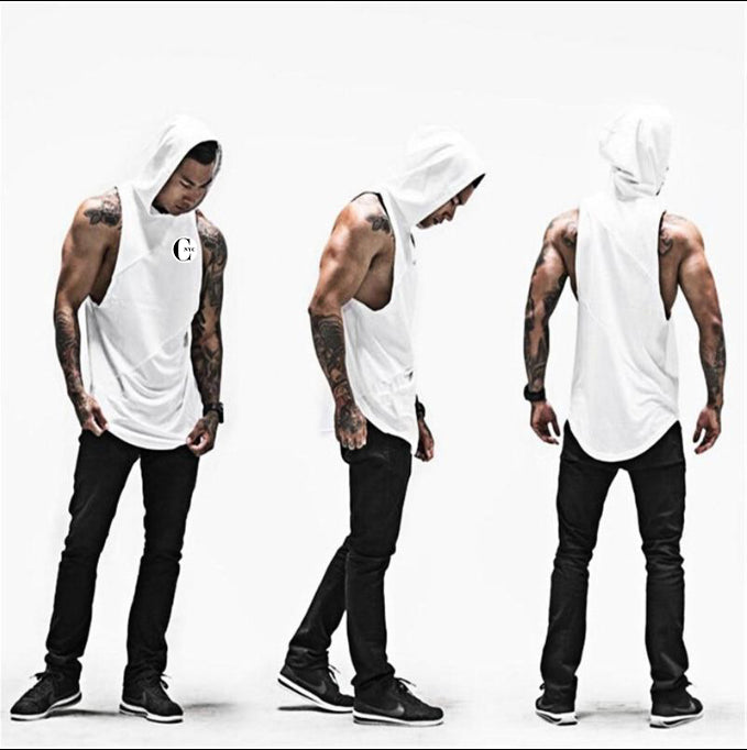 CHIC NYC Fitness Hooded Tank - White