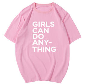 CHIC NYC '' Girls can do anything '' Printed T-Shirt