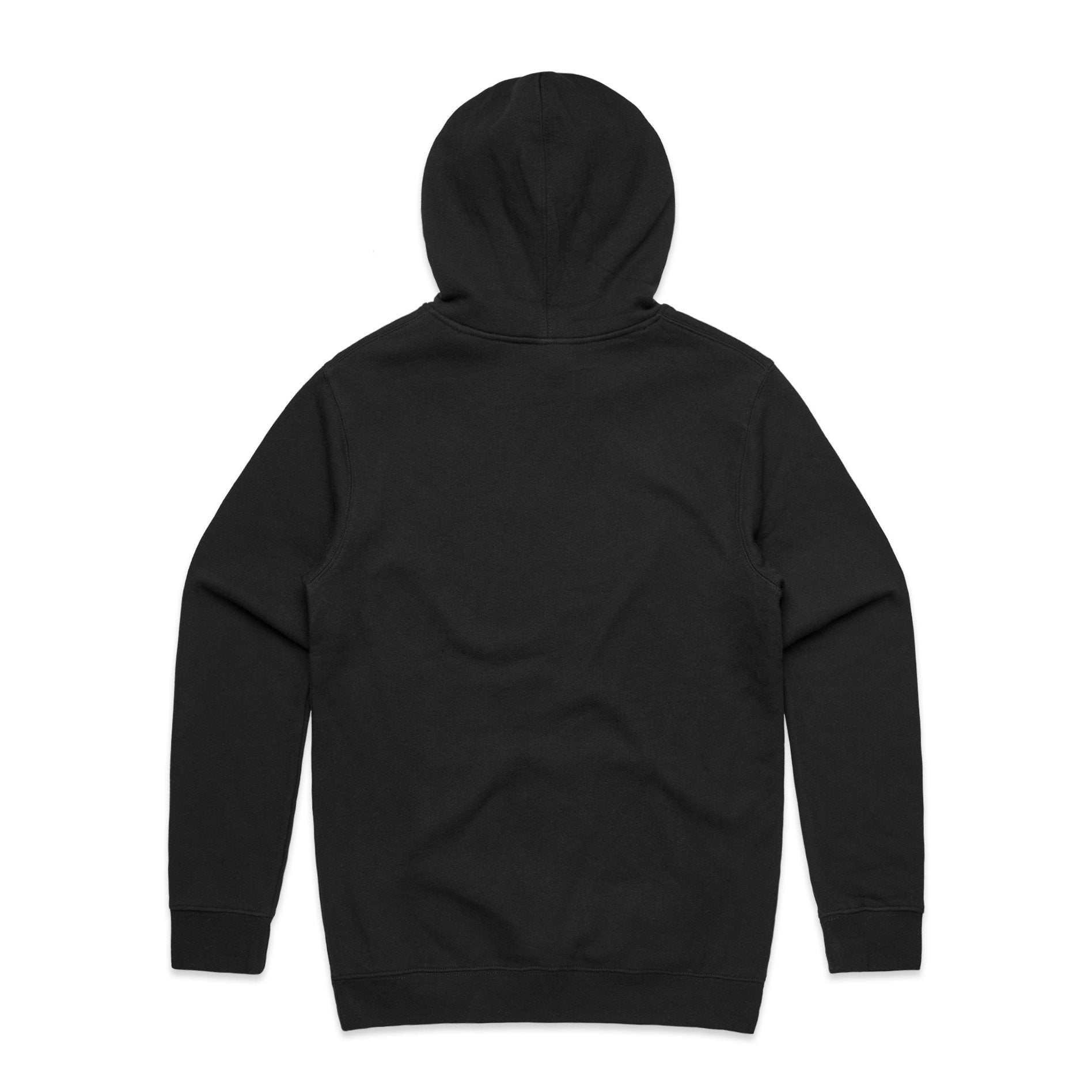 Black Basic Hoodie with USA Flag
