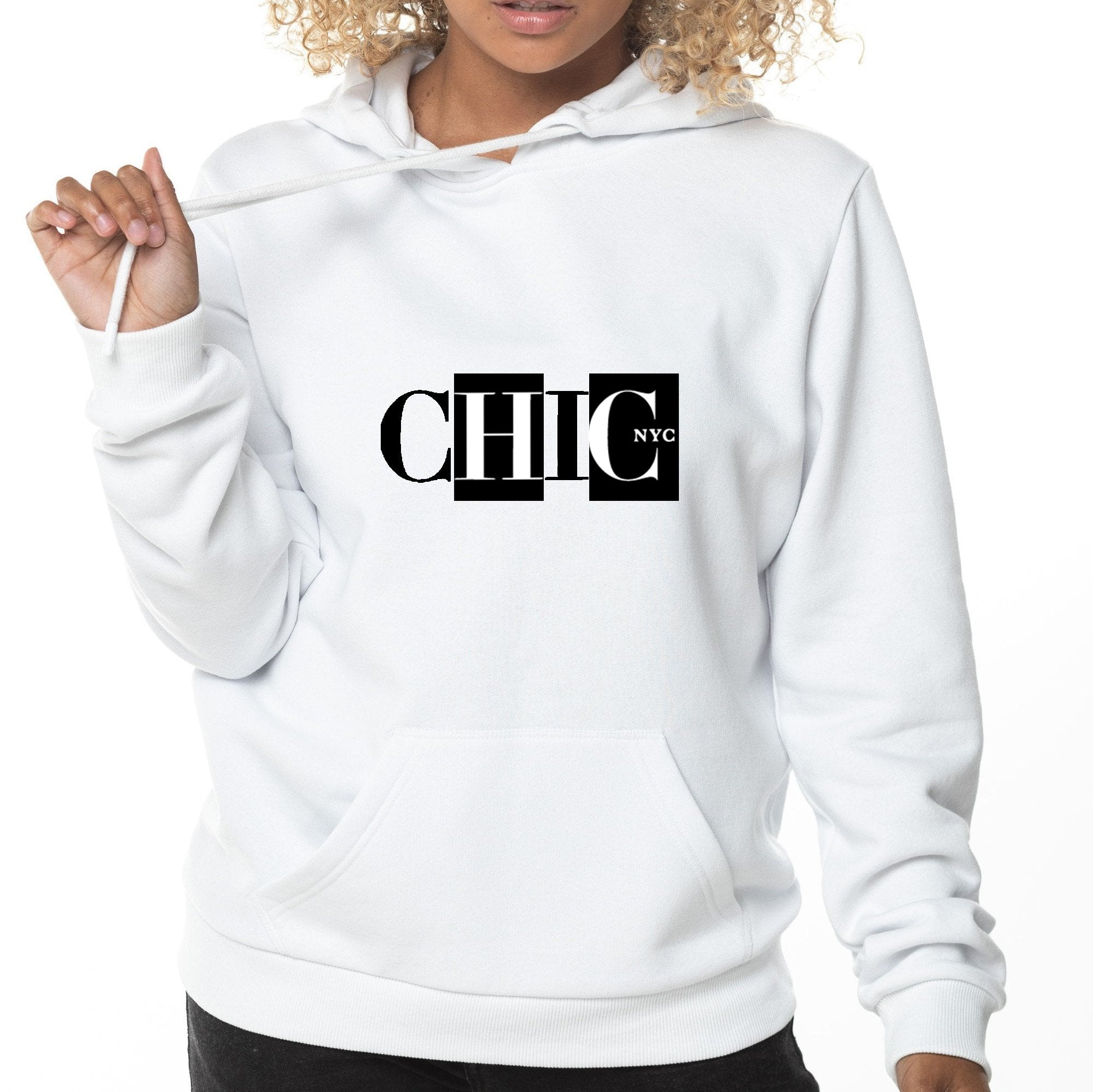 CHIC NYC Black and White Hoodie