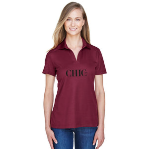 CHIC NYC Claret Red Polo Shirt